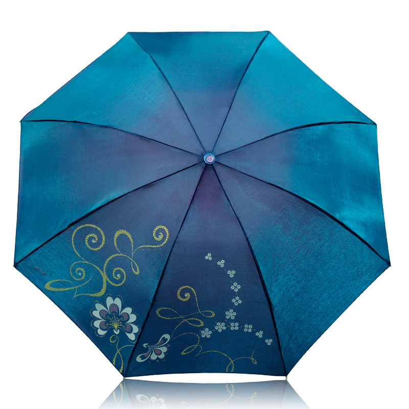 天堂 手动锦纶晴雨伞三折伞成人 307e闪银丝印遮阳伞