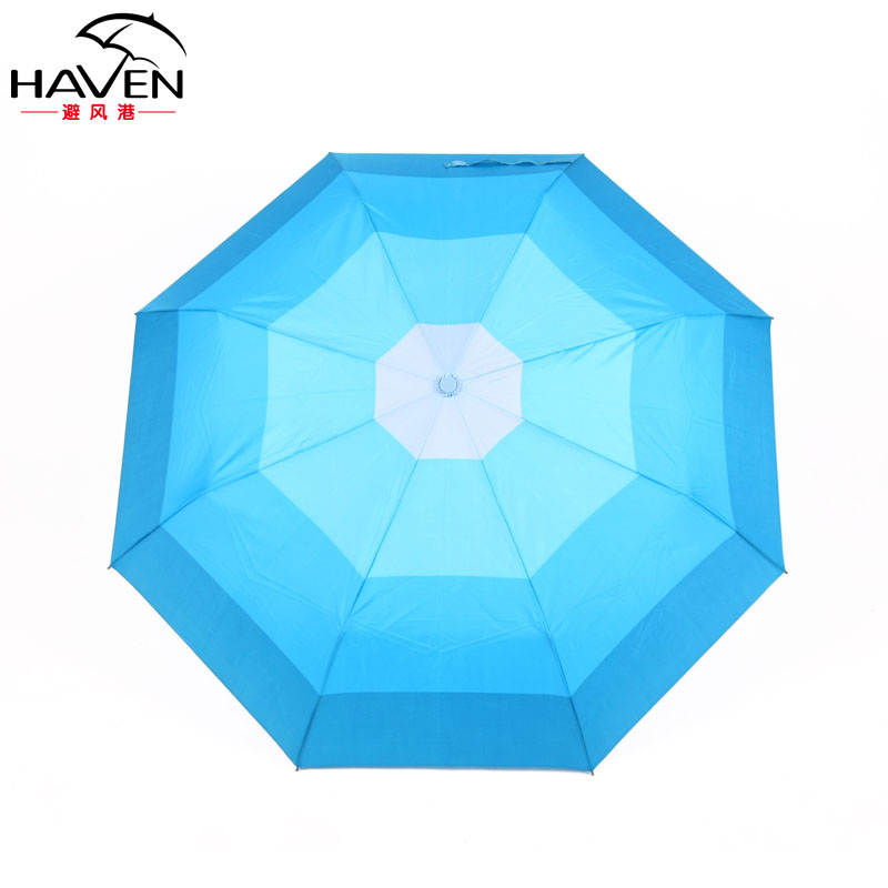 避风港手动碰击布晴雨伞三折伞成人-遮阳伞
