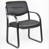 黑色系细纹会议椅/会客椅皮衣浙江 安吉现代简约 办公椅