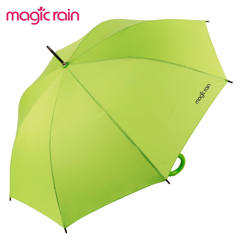 MAGIC RAIN 半自动高密度拒水碰起布晴雨伞长柄伞成人 遮阳伞