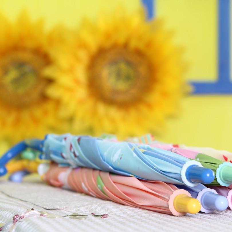 天堂伞手动碰击布晴雨伞长柄伞儿童爱在童年遮阳伞