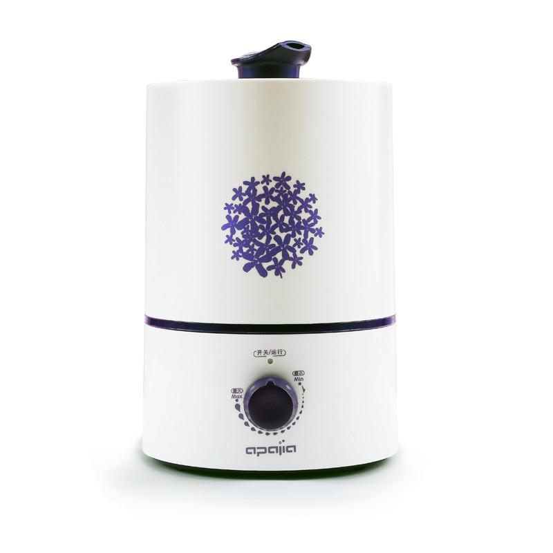 愛普愛家 紫色橙色旋鈕式出霧交流電36dB以下超聲波純凈加濕經典柱狀 加濕器