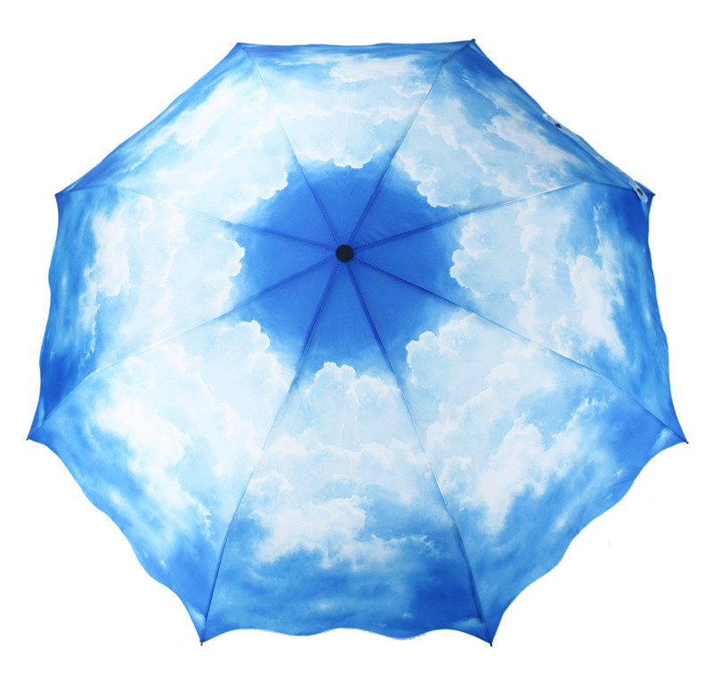 樂在奇中 手動碰擊布晴雨傘三折傘成人 SJ024遮陽傘