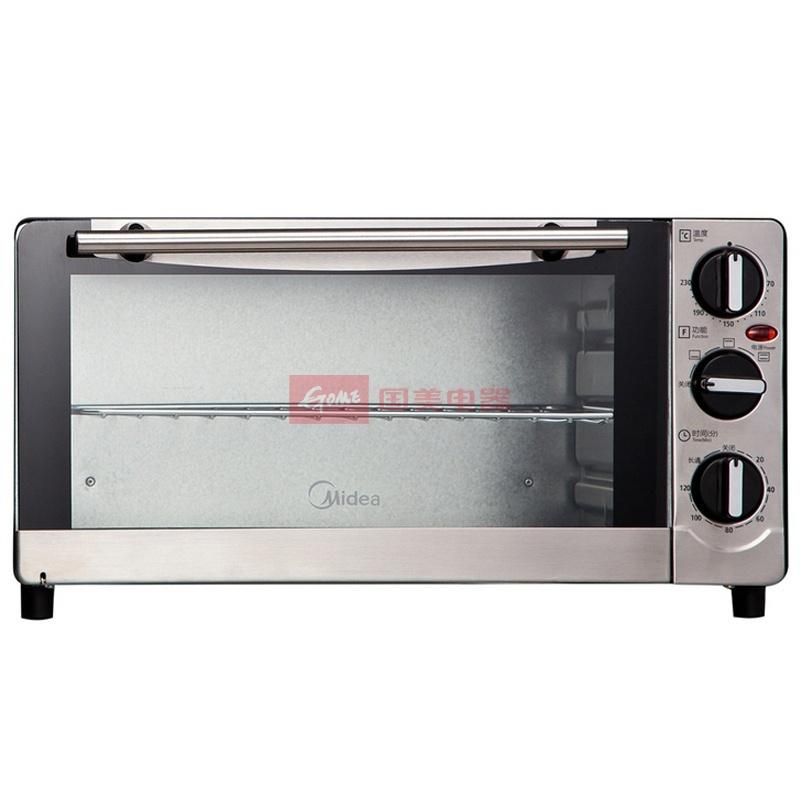 美的 不锈钢管下开门上烤,下烤,上/下烤镀锌板机械式电烤箱 电烤箱