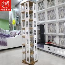 黑色白色黄色人造板密度板/纤维板木质工艺支架结构旋转置地用日式 CD架