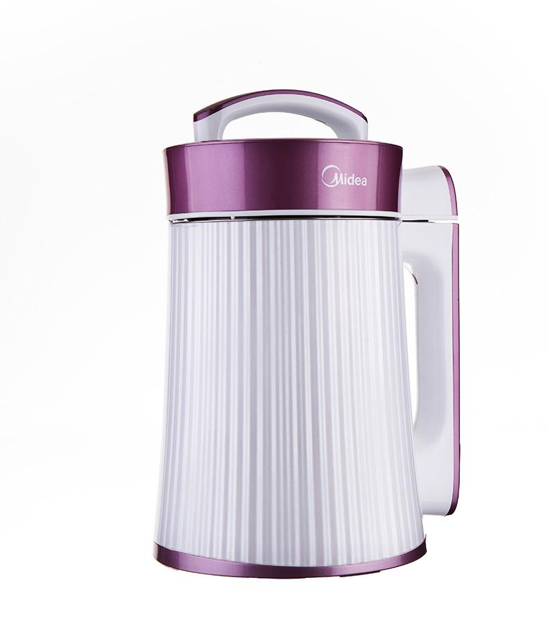 美的 紫色干豆湿豆米糊果蔬果汁全国联保不锈钢底盘加热 豆浆机