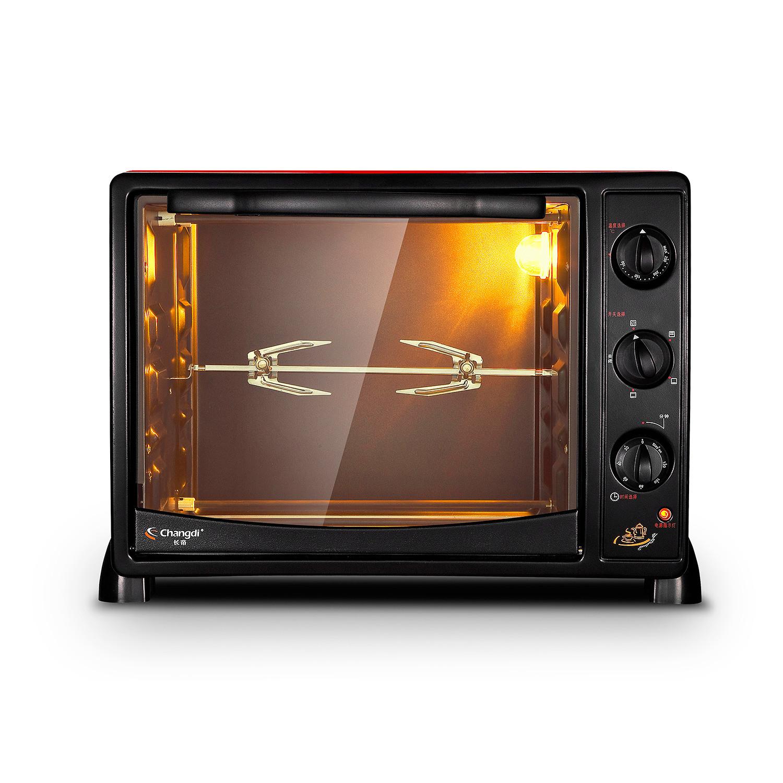 长帝 中国红色全国联保机械式卧式 电烤箱