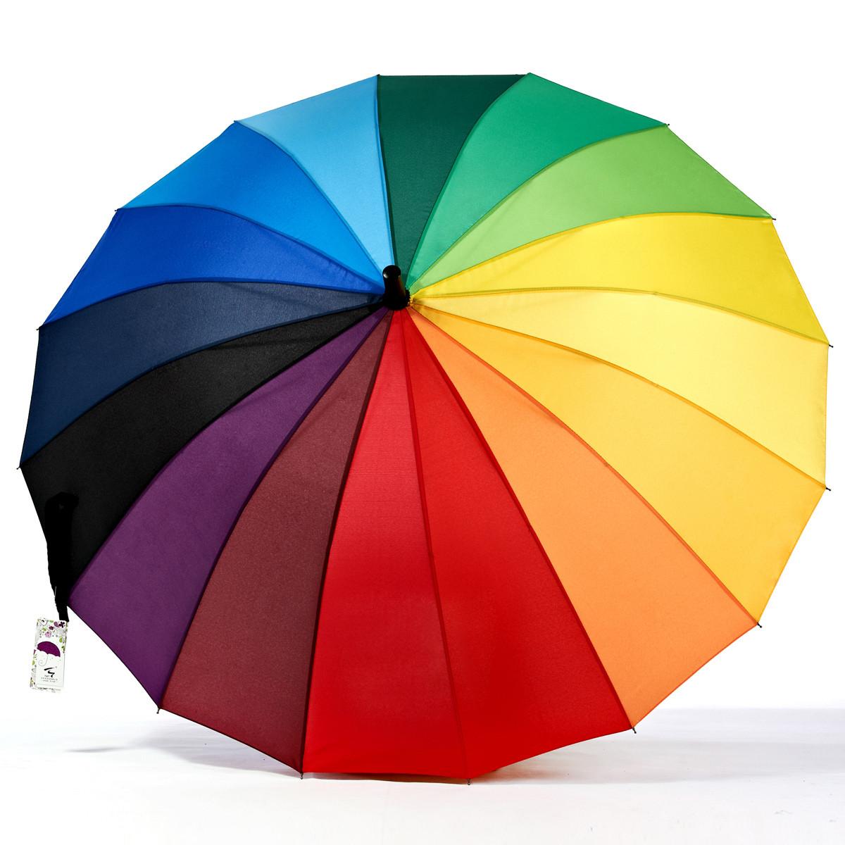 天外天半自动碰击布晴雨伞长柄伞成人遮阳伞