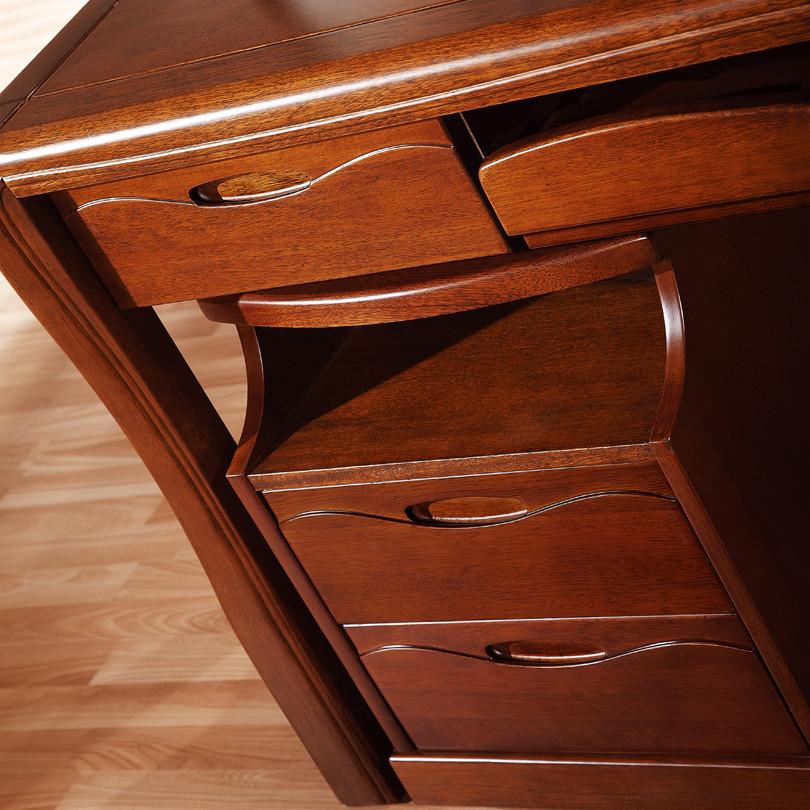 皇家匠人 散裝電腦桌核桃木多功能單個現代中式 書桌