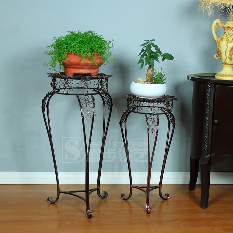 盛步焊接铁金属工艺支架结构移动植物花卉欧式花架