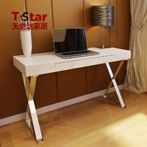 人造板组装电脑桌密度板/纤维板木拆装单个简约现代 书桌