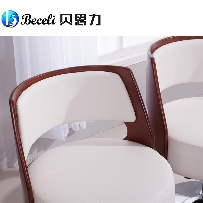 贝思力皮革高弹泡沫海绵成人简约现代沙发椅