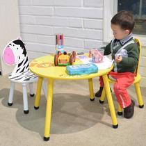 隔板密度板/纤维板支架结构拆装童趣/玩具儿童美式乡村 学习桌