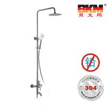 SUS304不锈钢 无铅 淋浴柱 三出水花洒 BKM-HS5801GL 贝克玛卫浴