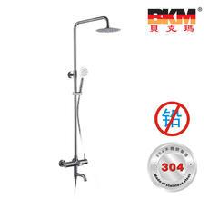 SUS304不锈钢 无铅 淋浴柱 三出水花洒 BKM-HS5802GL 贝克玛卫浴
