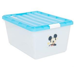 爱丽思蓝色塑料收纳盒