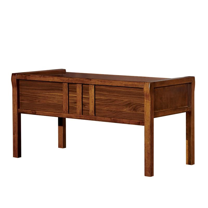 安惠 深胡桃色(閃電發貨)組裝電腦桌橡膠木儲藏單個現代中式 書桌