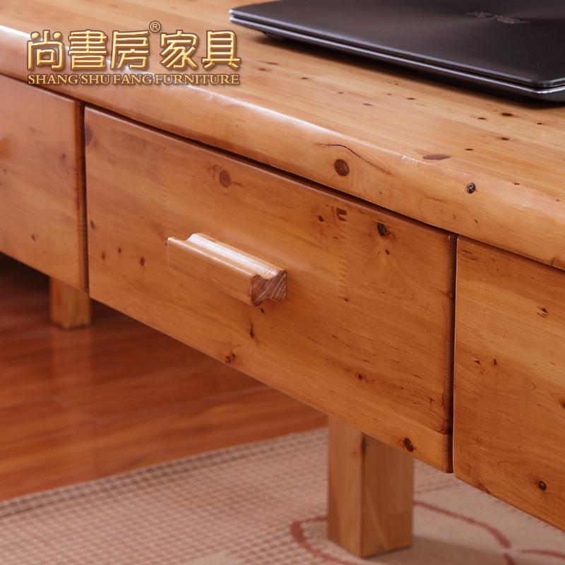 尚书房组装电脑桌柏木储藏单个简约现代书桌
