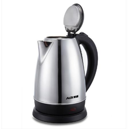 奥克斯银色不锈钢塑料普通电热水壶底盘加热电水壶
