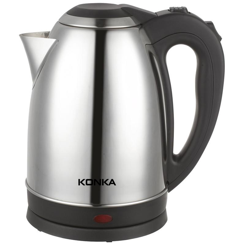 康佳银色国产优质温控器不锈钢普通电热水壶底盘加热电水壶