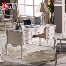 散装电脑桌橡胶木欧式 GFXFS26书桌