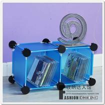 梦之蓝天使白塑料工艺框架结构折叠案台用抽象图案简约现代 KW35CD架