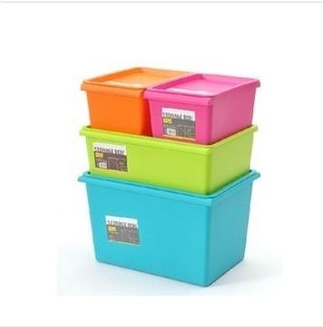 圣強 桔色綠色藍色玫紅塑料 收納盒
