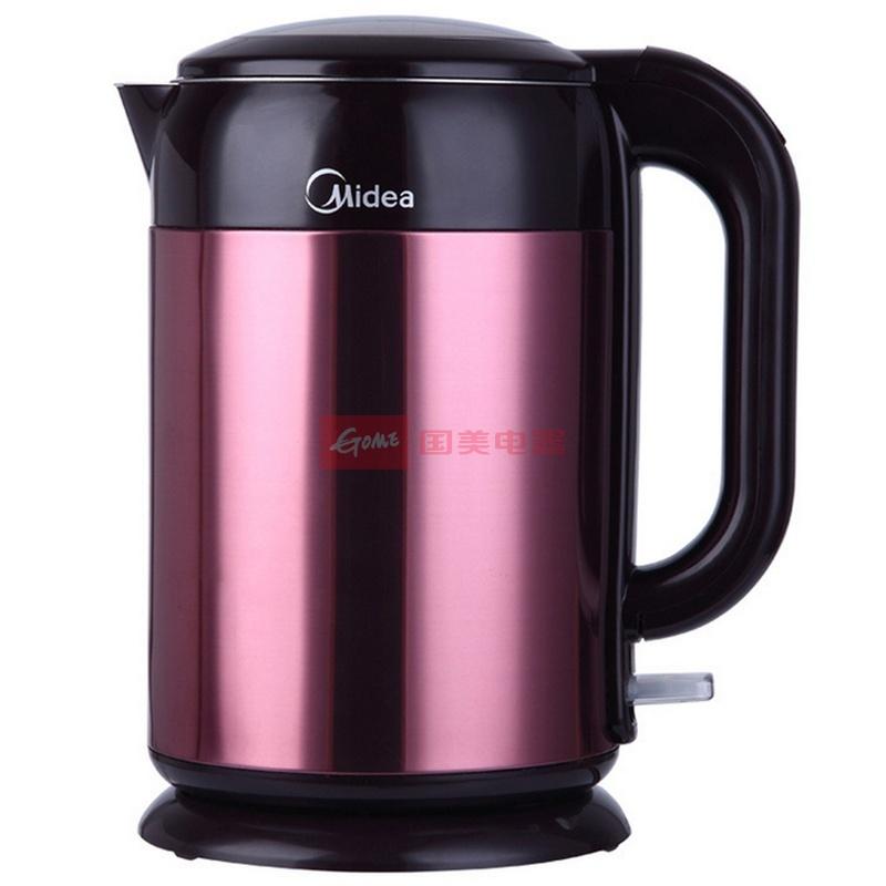 美的 红色不锈钢内壁标示美的(Midea) 电水壶H215E4a电水壶底盘加热 电水壶
