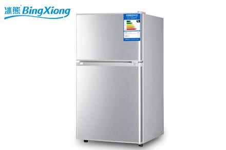 冰熊 左开门双门定频一级冷藏冷冻冰箱 冰箱