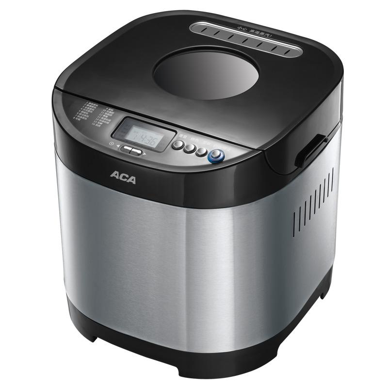 北美电器 黑色单搅拌叶片金属断电记忆功能保温电热管加热电脑式 面包机