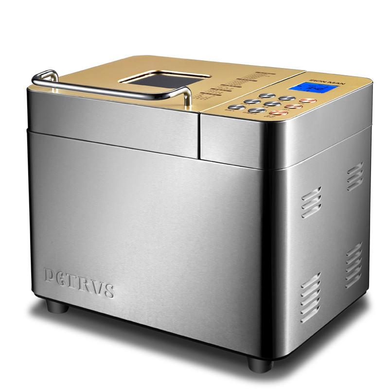 柏翠 水湖蓝香槟金单搅拌叶片金属电热管加热电脑式 面包机