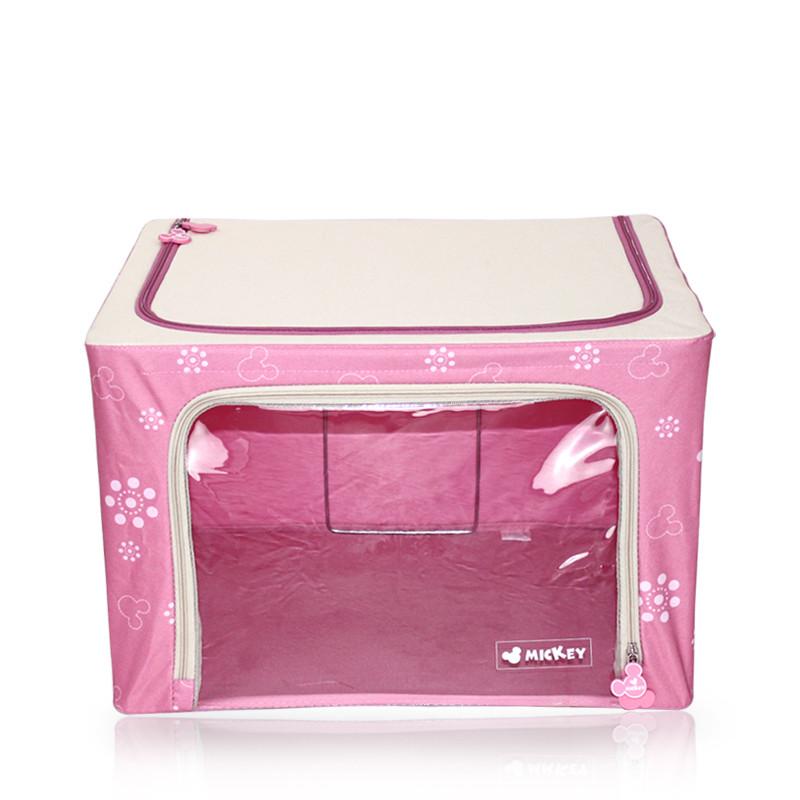 迪士尼绿色粉色牛津纺中号大号收纳箱