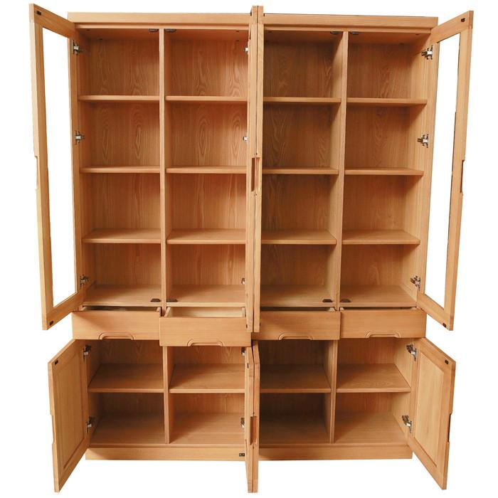 连华丰榆木成人简约现代书柜