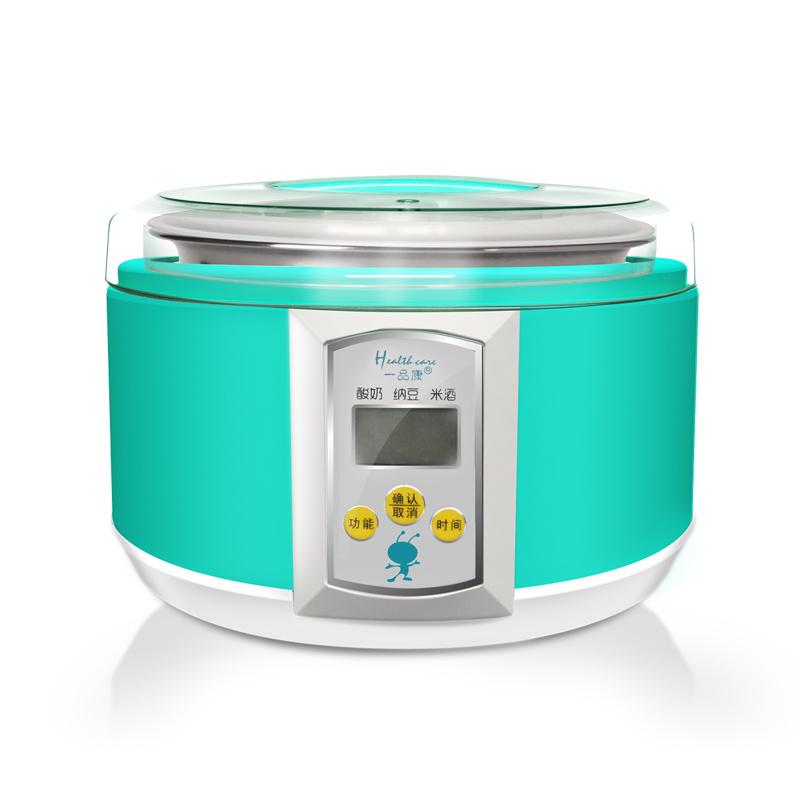 一品康 天藍色酸奶米酒納豆不銹鋼電腦式 酸奶機