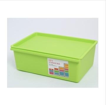 圣強 桔色嫩綠天藍玫紅塑料7L15L27L 收納盒