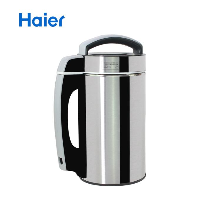 海尔 黑色全国联保不锈钢底盘加热 豆浆机