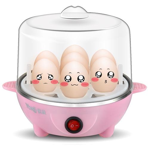 优益 天蓝色红色酒红色白色蒸蛋羹蒸面食煮蛋 煮蛋器