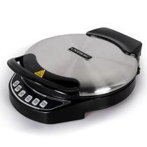 黑色+灰色悬浮式电饼铛双面加热烤炸炒烙煎 电饼铛
