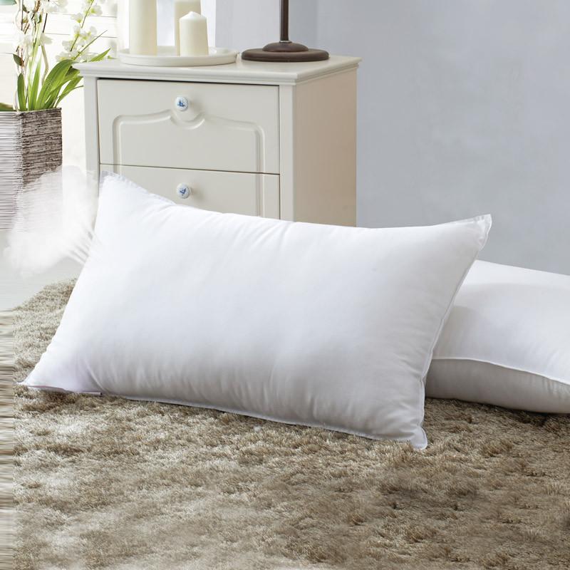 绅宝斜纹布棉布纤维枕长方形枕头
