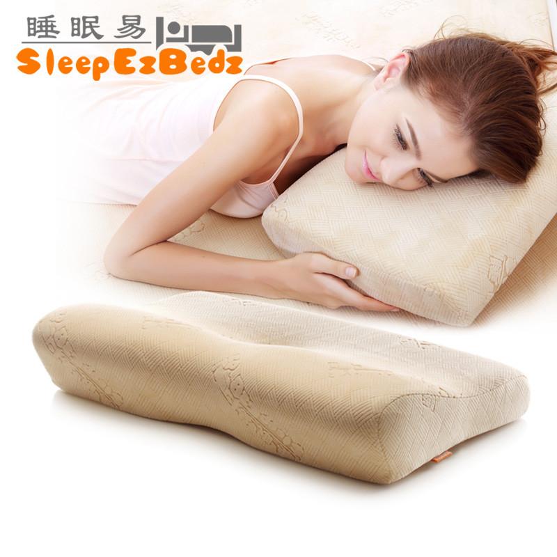 睡眠易大号小号一等品涤棉记忆棉长方形枕头