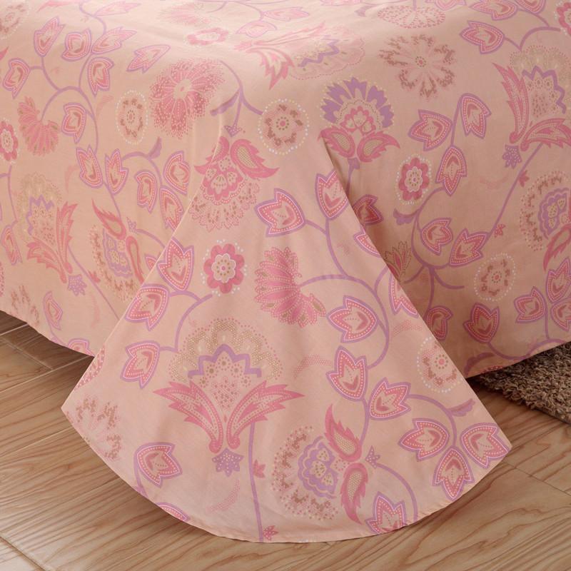 惠尚佳简约现代植物花卉床单式田园风床品件套四件套