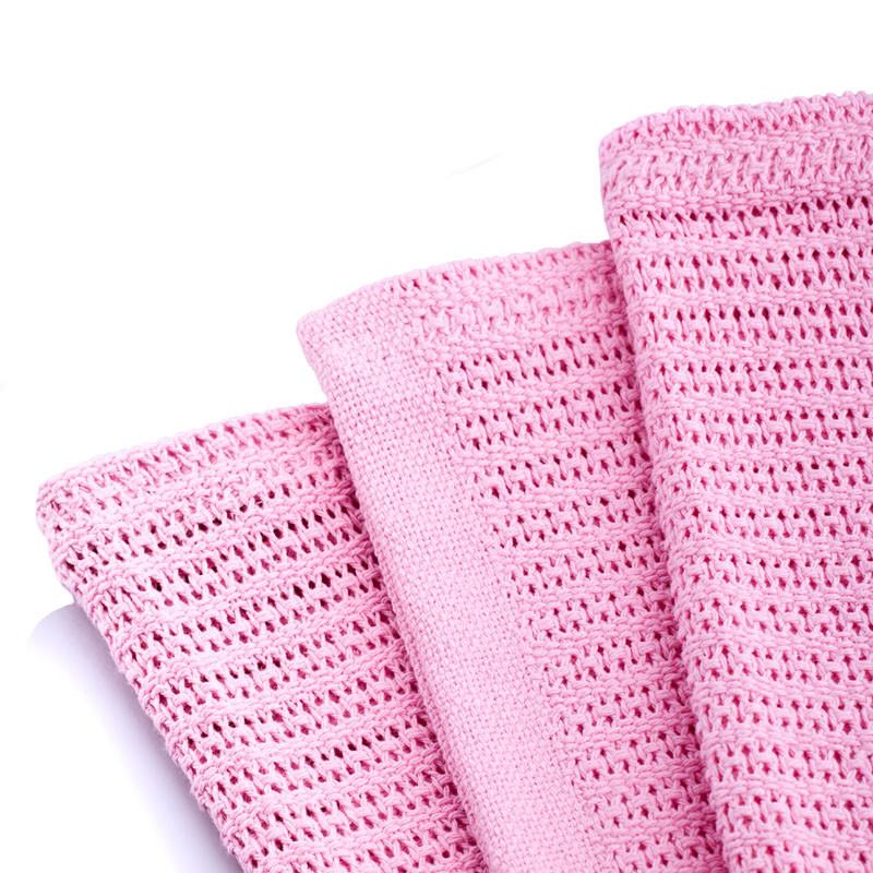 汉妮威粉红色米黄色天蓝色毛巾毯夏季纯色简约现代毛毯