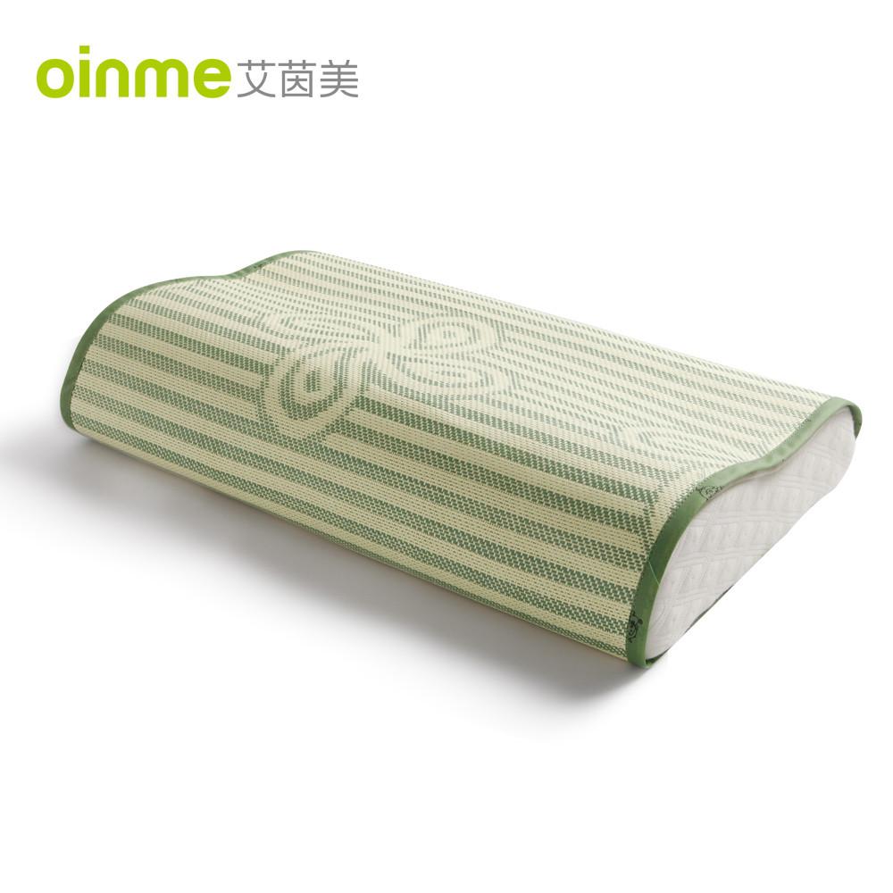 艾茵美绿色印花成人枕席枕片一等品凉席