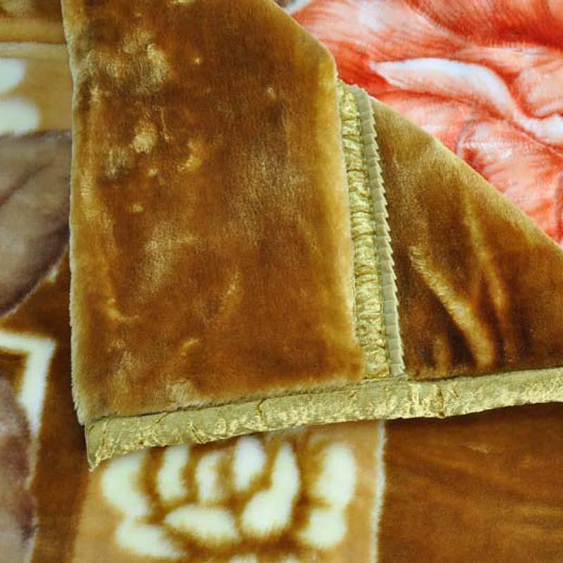 美雅 5%拉舍尔MT2023-5-2毛毯一等品冬季植物花卉简约现代 毛毯