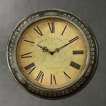 伦敦印记金属单面欧式 挂钟
