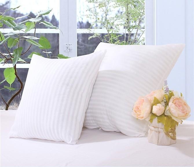 绣王白色布靠垫芯抱枕芯棉条纹简约现代抱枕