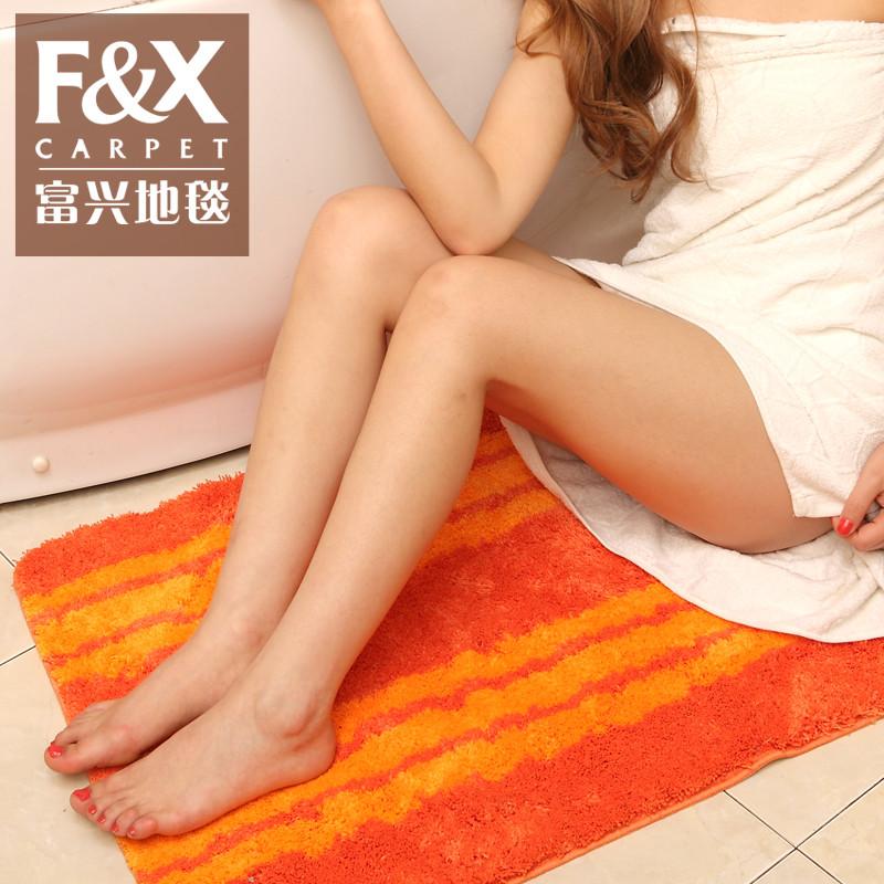 富兴毯业化纤欧式涤纶条纹正方形欧美机器织造地毯