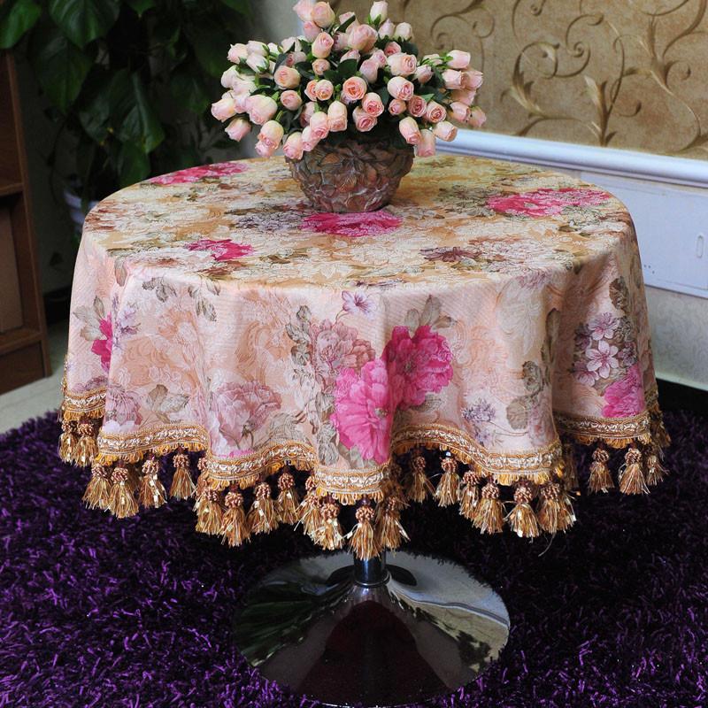 澳而春米黄色布植物花卉欧式桌布