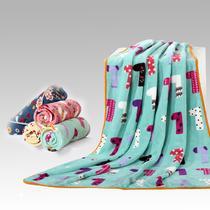 珊瑚绒毯一等品冬季卡通动漫田园 毛毯