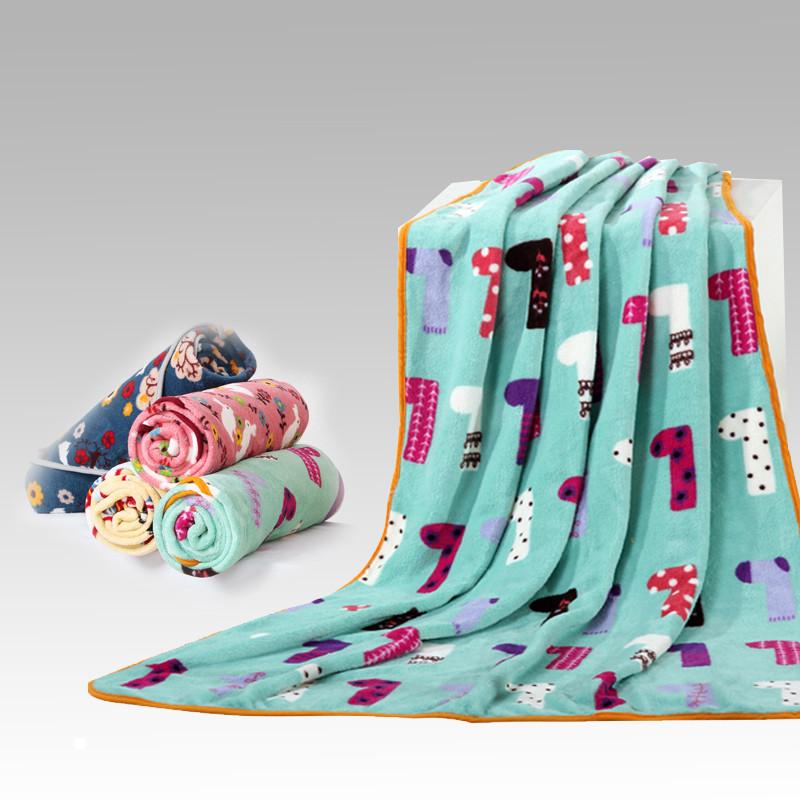 万帛 珊瑚绒毯一等品冬季卡通动漫田园 毛毯